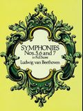 Symphonies Nos. 5, 6, and 7 in Full Score