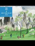New York in Art 2021 Mini Wall Calendar