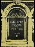 Catalogue of Books and Journals, 1891-1965