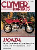 Honda Xr50r, Crf50f, Xr70r and Crf70f, 2000-2016 Clymer Repair Manual