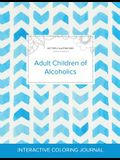 Adult Coloring Journal: Adult Children of Alcoholics (Butterfly Illustrations, Watercolor Herringbone)