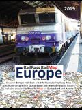 Railpass Railmap Europe 2019: Discover Europe with Icon and Info Illustrated Railway Atlas Specifically Designed for Global Eurail and Interrail Rai