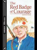 The Red Badge Of Courage (Adaptation) (Turtleback School & Library Binding Edition) (Saddleback Classics)