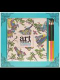 Art Therapy: An Inspirational Coloring Kit (Deluxe Kit with Pencils)