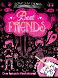 Scratch & Stencil: Best Friends [With Stencils and Black Scratch Paper]
