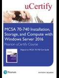 McSa 70-740 Installation, Storage, and Compute with Windows Server 2016 Pearson Ucertify Course Student Access Card