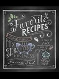 Deluxe Recipe Binder - Favorite Recipes (Chalkboard)