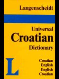 Langenscheidt's Universal Dictionary Croatian: Croatian-English / English-Croatian