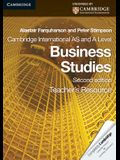 Cambridge International as and a Level Business Studies Teacher's Resource CD-ROM