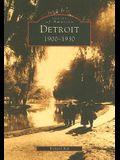 Detroit: 1900-1930