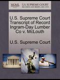 U.S. Supreme Court Transcript of Record Ingram-Day Lumber Co V. McLouth