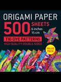 Origami Paper 500 Sheets Tie-Dye Patterns 6 (15 CM): High-Quality, Double-Sided Origami Sheets Printed with 12 Designs (Instructions for 6 Projects I