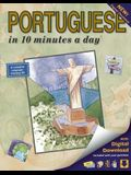 Portuguese in 10 Minutes a Day: Language Course for Beginning and Advanced Study. Includes Workbook, Flash Cards, Sticky Labels, Menu Guide, Software