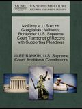 McElroy V. U S Ex Rel Guagliardo: Wilson V. Bohlender U.S. Supreme Court Transcript of Record with Supporting Pleadings