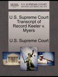 U.S. Supreme Court Transcript of Record Keeler V. Myers