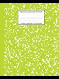 Marbled Composition Notebook: Green Marble Wide Ruled Paper Subject Book