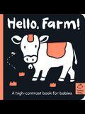 Hello Farm!: A High-Contrast Book for Babies