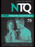 New Theatre Quarterly: Volume XX, Part 3