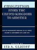 Emigration from the United Kingdom to America: Lists of Passengers Arriving at U.S. Ports, September 1874 - June 1875