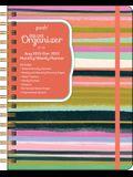 Posh: Deluxe Organizer 17-Month 2021-2022 Monthly/Weekly Planner Calendar: Brushstroke Stripe
