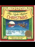 The Night Before Christmas Fold-Out Play Set: A Visit from St. Nicholas [With Paper Doll Punch-Outs]