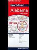 Rand McNally Easy to Read! Alabama State Map