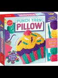 Punch Yarn Pillow [With 32 Page Book and Yarn, Burlap, Felt, Frame, Clips, and Stuffing]