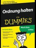 Ordnung Halten F?r Dummies