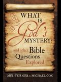 What Is God's Mystery?: And Other Bible Questions Explored