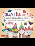 Origami Fun for Kids Kit: 20 Fantastic Folding and Coloring Projects: Kit with Origami Book, Fun & Easy Projects, 60 Origami Papers and Instruct