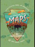 National Parks Maps: Illustrated Maps of America's 62 National Parks