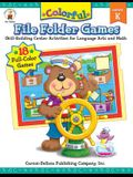 Colorful File Folder Games, Grade K: Skill-Building Center Activities for Language Arts and Math