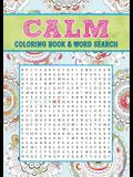 Calm Coloring Book & Word Search