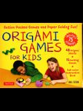 Origami Games for Kids Kit: Action Packed Games and Paper Folding Fun! [origami Kit with Book, 48 Papers, 75 Stickers, 15 Exciting Games, Easy-To-