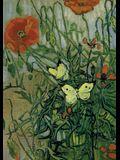 Van Gogh's Butterflies and Poppies Notebook