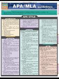 APA/MLA Guidelines for Students Laminate Reference Chart