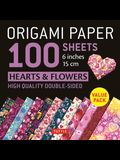 Origami Paper 100 Sheets Hearts & Flowers 6 (15 CM): Tuttle Origami Paper: High-Quality Double-Sided Origami Sheets Printed with 12 Different Patterns