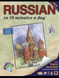 Russian in 10 Minutes a Day: Language Course for Beginning and Advanced Study. Includes Workbook, Flash Cards, Sticky Labels, Menu Guide, Software,