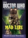 Doctor Who Villains and Monsters Mad Libs