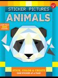 Sticker Pictures: Animals: Stick, Color & Create One Sticker at a Time!