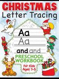 Christmas Letter Tracing Preschool Workbook for Kids Ages 3-5: Alphabet Trace the Letters, Handwriting, & Sight Words Practice Book - The Best Stockin