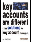Key Accounts Are Different: Sales Solutions for Key Account Managers