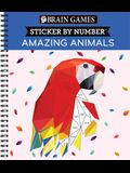 Brain Games - Sticker by Number: Amazing Animals (Geometric Stickers)