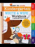 Ready to Learn: Kindergarten Write and Wipe Workbook: Addition, Subtraction, Sight Words, Letter Sounds, and Letter Tracing