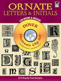 Ornate Letters and Initials CD-ROM and Book [With CDROM]