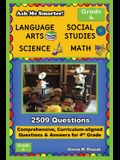Ask Me Smarter! Language Arts, Social Studies, Science, and Math - Grade 4: Comprehensive, Curriculum-aligned Questions and Answers for 4th Grade