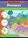 Watch Me Read and Draw: Dinosaurs: A Step-By-Step Drawing & Story Book - Includes Flip-Out Drawing Pad and More Than 30 Stickers