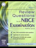 Mosby's Review Questions for the Nbce Examination: Parts I and II [With CDROM]