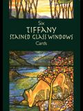Six Tiffany Stained Glass Windows Cards [With Cards]