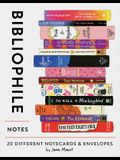 Bibliophile Notes: 20 Different Notecards & Envelopes (Notecards for Book Lovers, Illustrated Notecards, Stationery)
